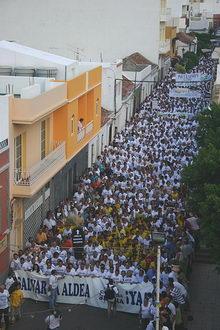 Manifestación por la licitación de la nueva carretera de La Aldea a Agaete