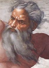 Dios de Michelangelo Buonarotti en la Capilla Sixtina
